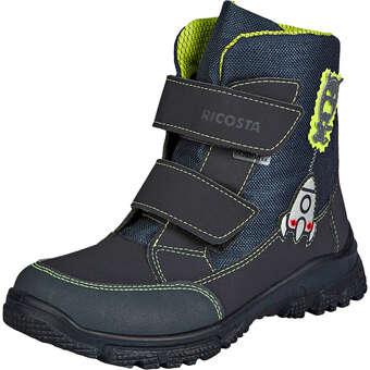 - Ricosta Rocki Klett Boots Jungen blau - Onlineshop Schuhcenter