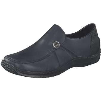 Slipper - Rieker Hochfrontslipper Damen blau  - Onlineshop Schuhcenter