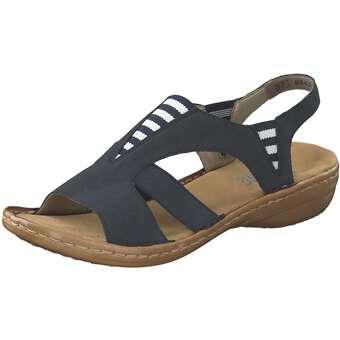 Sandalen für Frauen - Rieker Sandale Damen blau  - Onlineshop Schuhcenter