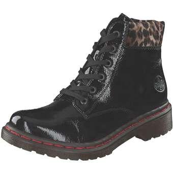 Rieker Schnür Boots Damen schwarz