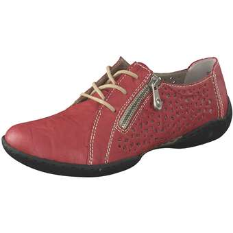 Halbschuhe für Frauen - Rieker Schnürer Damen rot  - Onlineshop Schuhcenter