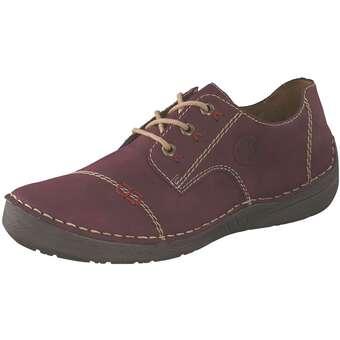 Rieker Schnürer Damen rot | Schuhe > Schnürschuhe | Rieker