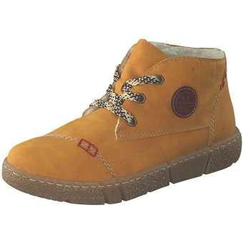 Stiefel - Rieker Schnürstiefelette Damen gelb  - Onlineshop Schuhcenter