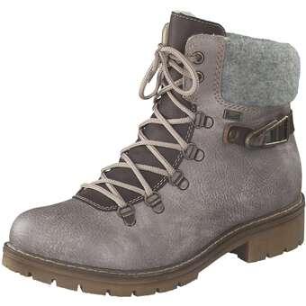 Rieker Schnür Boots Damen grau | Schuhe > Boots > Schnürboots | Rieker