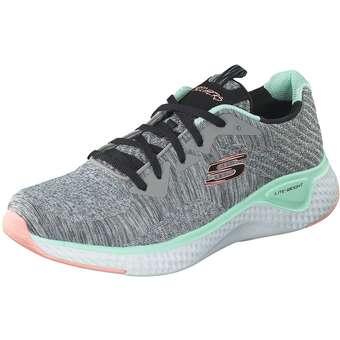 Sportschuhe für Frauen - Skechers Solar Fuse Brisk Escape Damen grau  - Onlineshop Schuhcenter