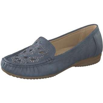 smiling for feet Mokassin Damen blau
