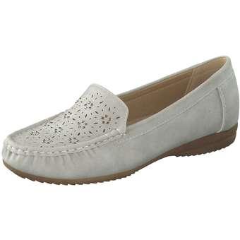smiling for feet Mokassin Damen grau | Schuhe > Mokassins | smiling for feet