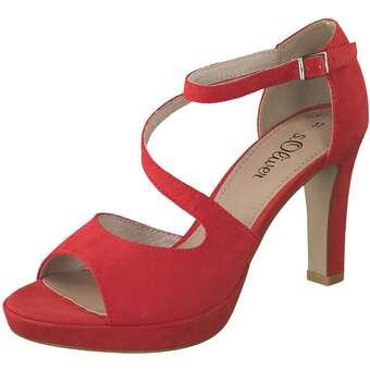 Sandalen für Frauen - s.Oliver Sandale Damen rot  - Onlineshop Schuhcenter