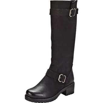 Stiefel - Sylvine Langschaftstiefel Damen schwarz  - Onlineshop Schuhcenter