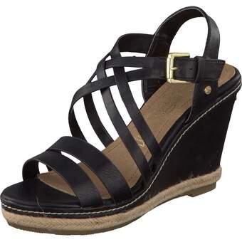 Tom Tailor Keil-Sandale schwarz
