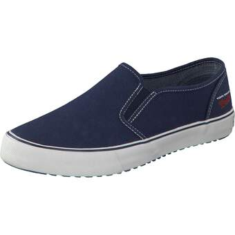 Tom Tailor Leinen Slipper navy