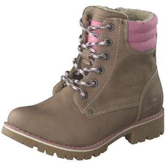 - Tom Tailor Schnür Boots Mädchen beige - Onlineshop Schuhcenter