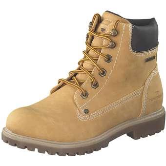 Tom Tailor Schnür Boots Damen gelb