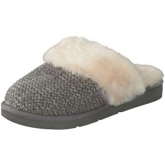 UGG Cozy Knit Hausschuhe Damen grau | Schuhe > Hausschuhe | Grau | Textil | Ugg