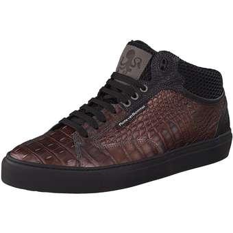 Floris van Bommel High Sneaker weinrot