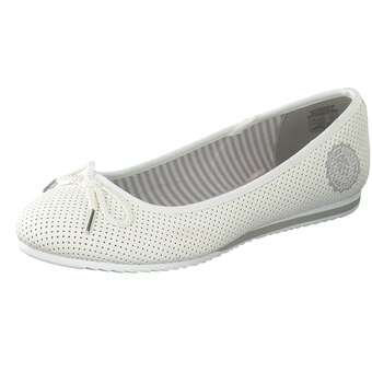 Ballerinas für Frauen - Via della Rosa Ballerina Damen weiß  - Onlineshop Schuhcenter