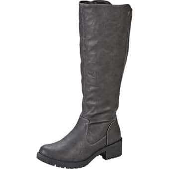 Stiefel - Via della Rosa Langschaftstiefel Damen grau  - Onlineshop Schuhcenter