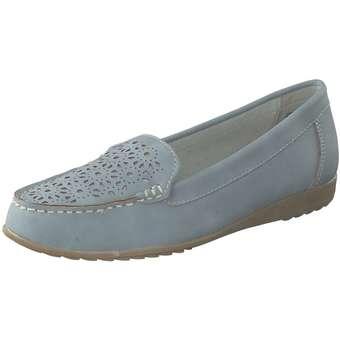 Wellness Mokassin Damen blau | Schuhe > Mokassins | Wellness