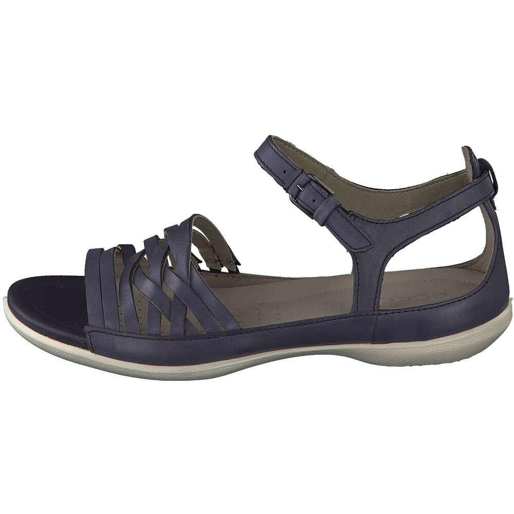 ecco damen flash sandale in blau reduziert bei
