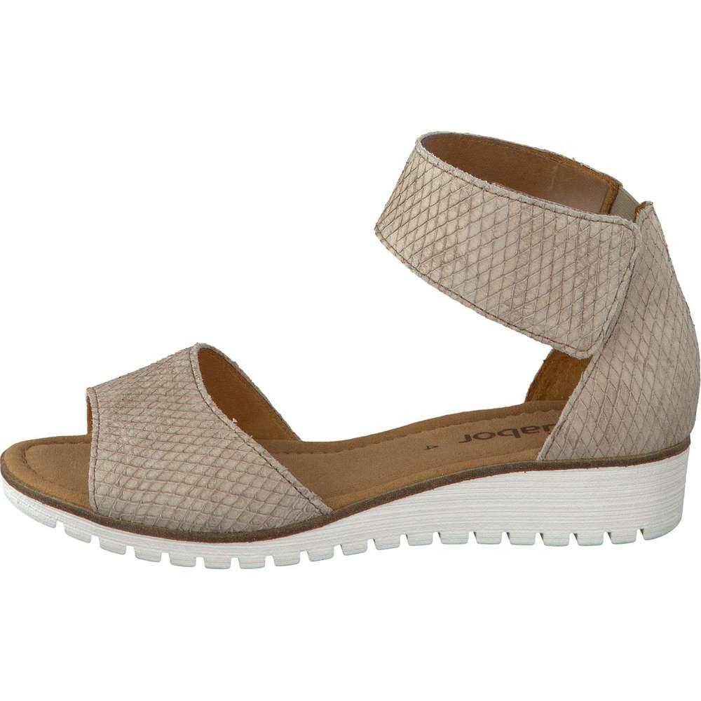 gabor shoes damen fashion ankle strap sandalen wei weiss 21 38 eu. Black Bedroom Furniture Sets. Home Design Ideas