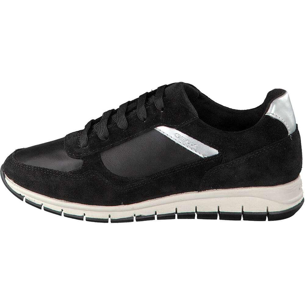 geox sneaker damen contact schwarz. Black Bedroom Furniture Sets. Home Design Ideas