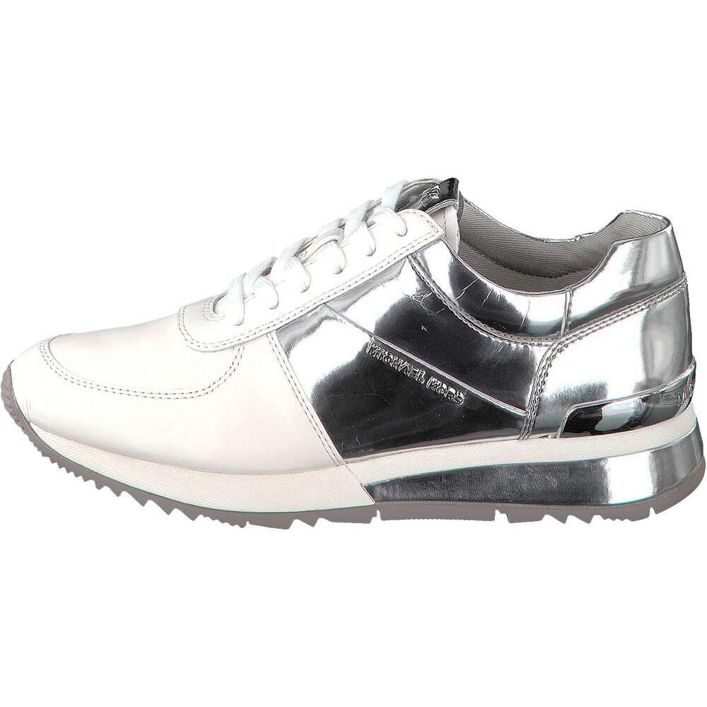 michael kors damen sneaker allie wrapp trainer silber. Black Bedroom Furniture Sets. Home Design Ideas