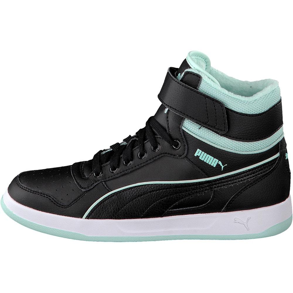 puma sneaker damen liza mid fur schwarz. Black Bedroom Furniture Sets. Home Design Ideas