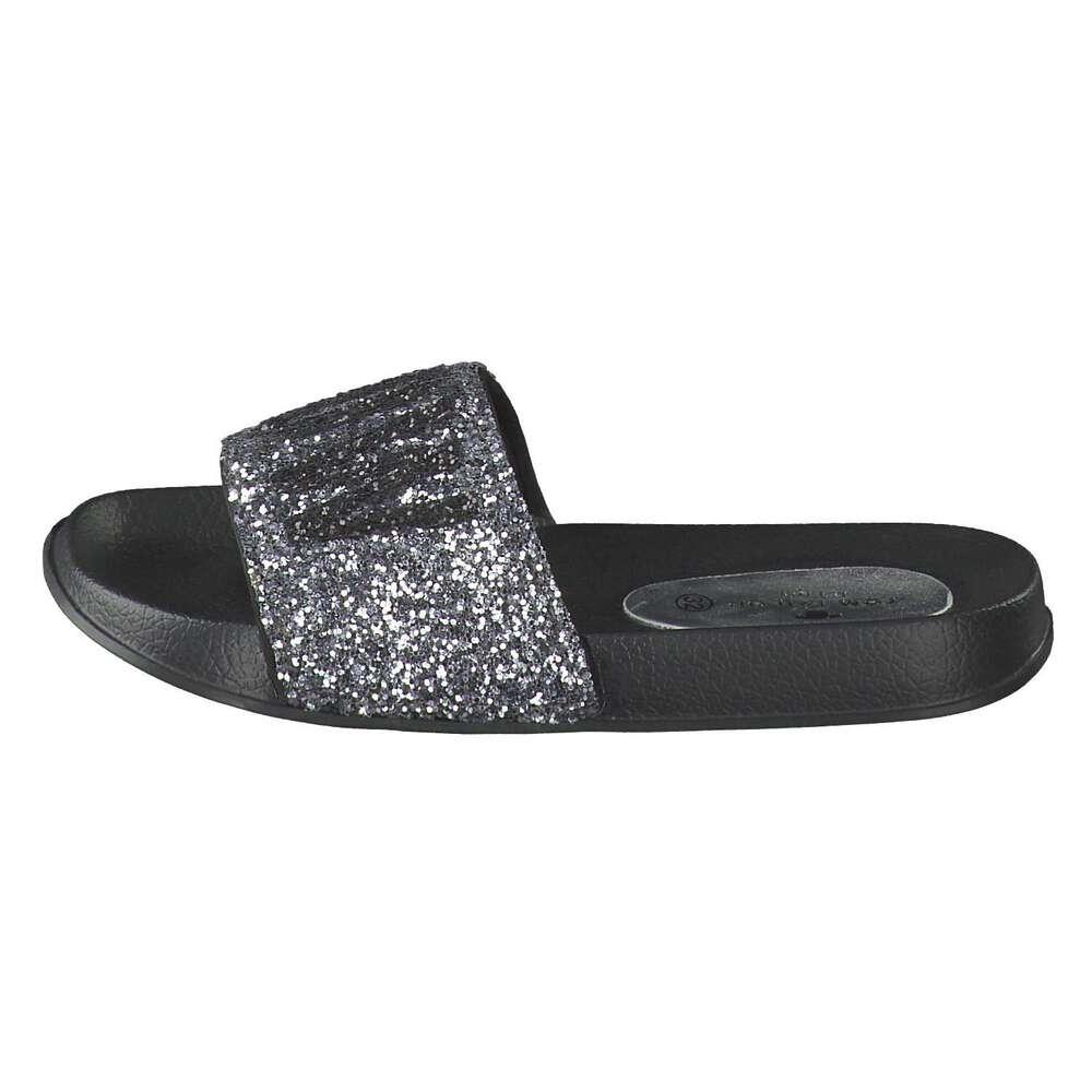 size 40 66ad6 19d12 Tom Tailor - Pantolette - silber | Schuhcenter.de