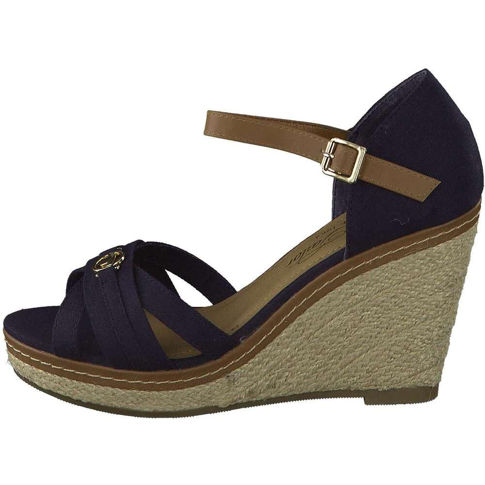 tom tailor sandale fersenkappe blau reduziert bei. Black Bedroom Furniture Sets. Home Design Ideas