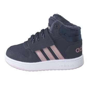 adidas Hoops Mid 2.0 I Klett Boot blau