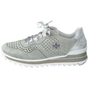 Rieker Plateau Sneaker grau ❤️ | kM7pm