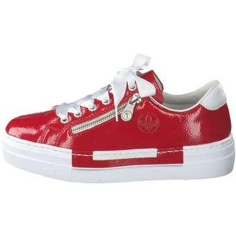 Rieker Plateau Sneaker rot ❤️ | CCVcE