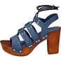 Claudia Ghizzani Sandale  jeansblau