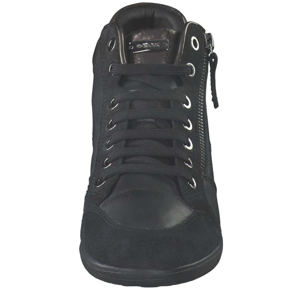 GEOX Damen Sneaker Schwarz Schuhe   O46