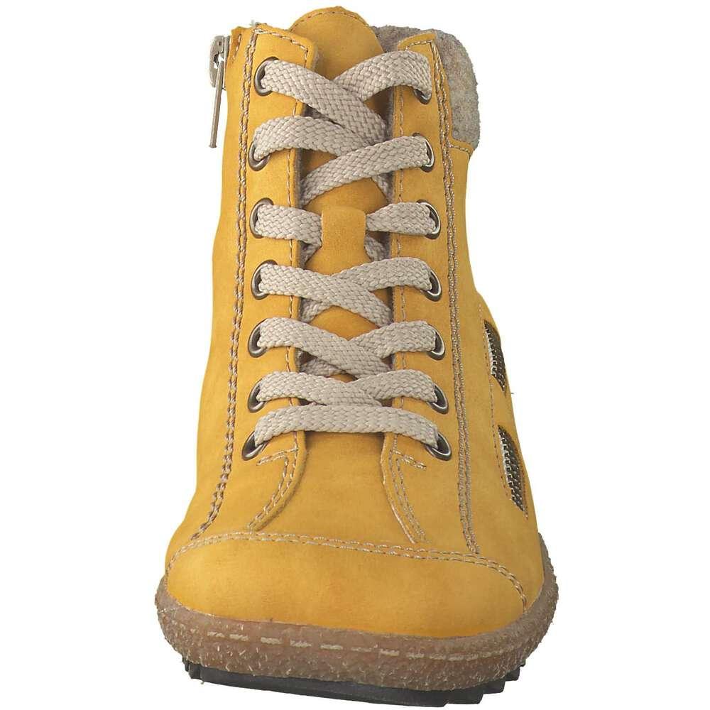 Gelbe stiefeletten rieker