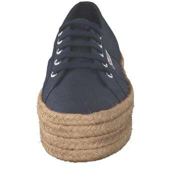 Superga Superga Plateau Cotropew Cotropew Sneaker Sneaker Plateau Blau IWH2E9DY