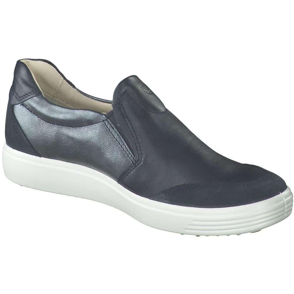 Ecco Schuhe Soft 7 Slipper schwarz weiß