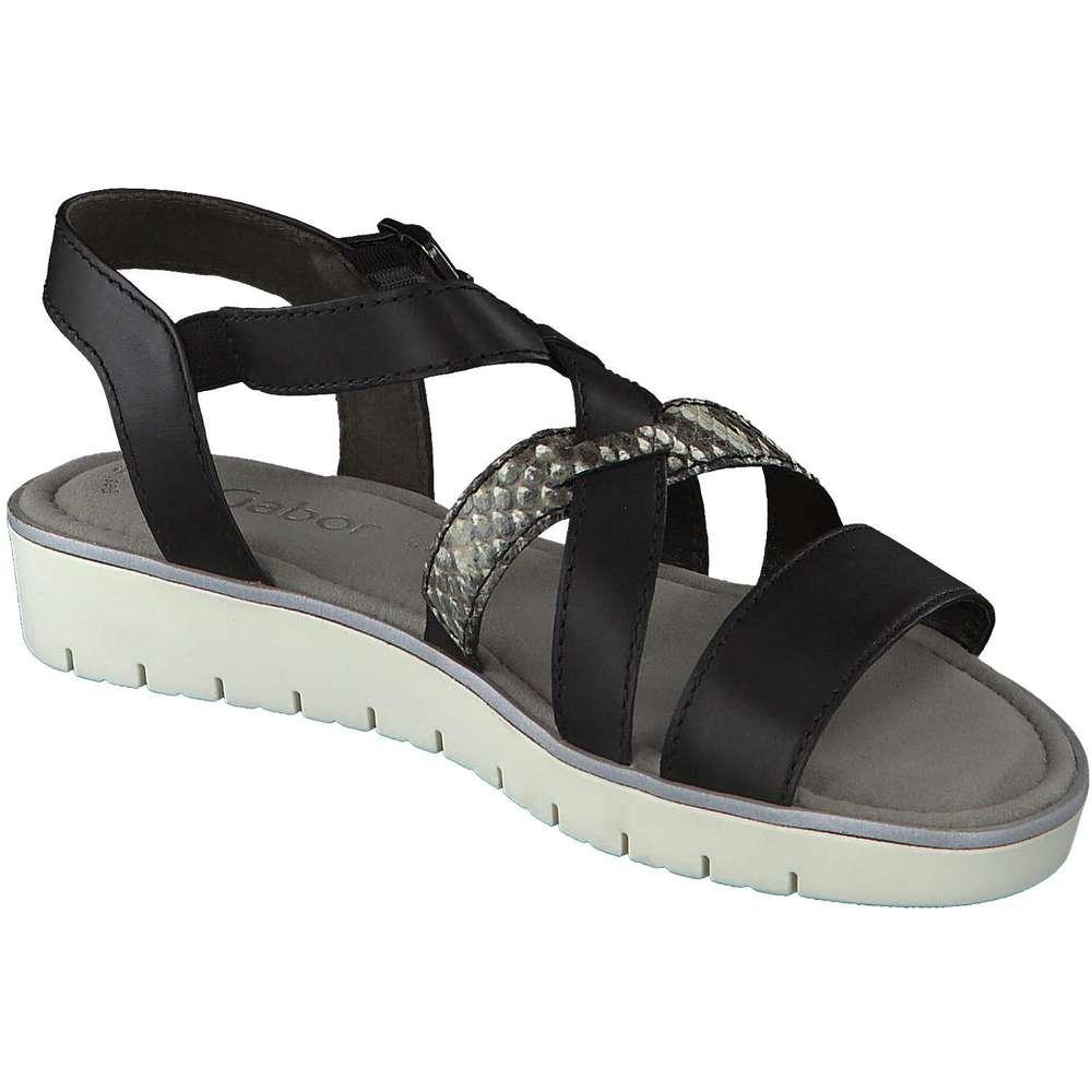 gabor damen sandale in schwarz reduziert bei. Black Bedroom Furniture Sets. Home Design Ideas