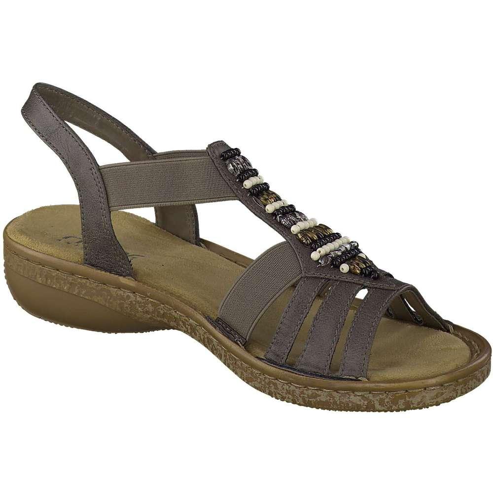 rieker damen sandale in grau reduziert bei. Black Bedroom Furniture Sets. Home Design Ideas