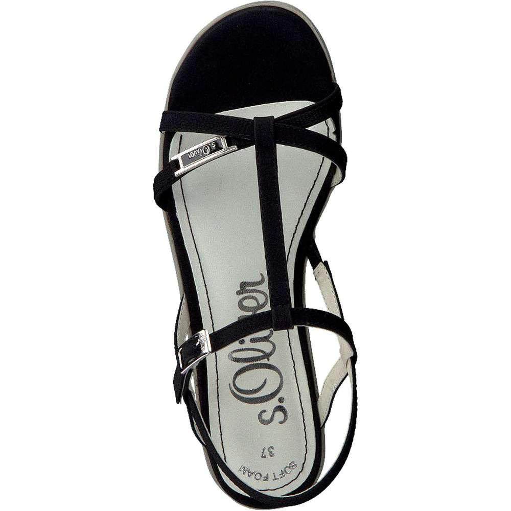 oliver sandale schwarz s oliver sandale schwarz 39 95 inkl gesetzl. Black Bedroom Furniture Sets. Home Design Ideas