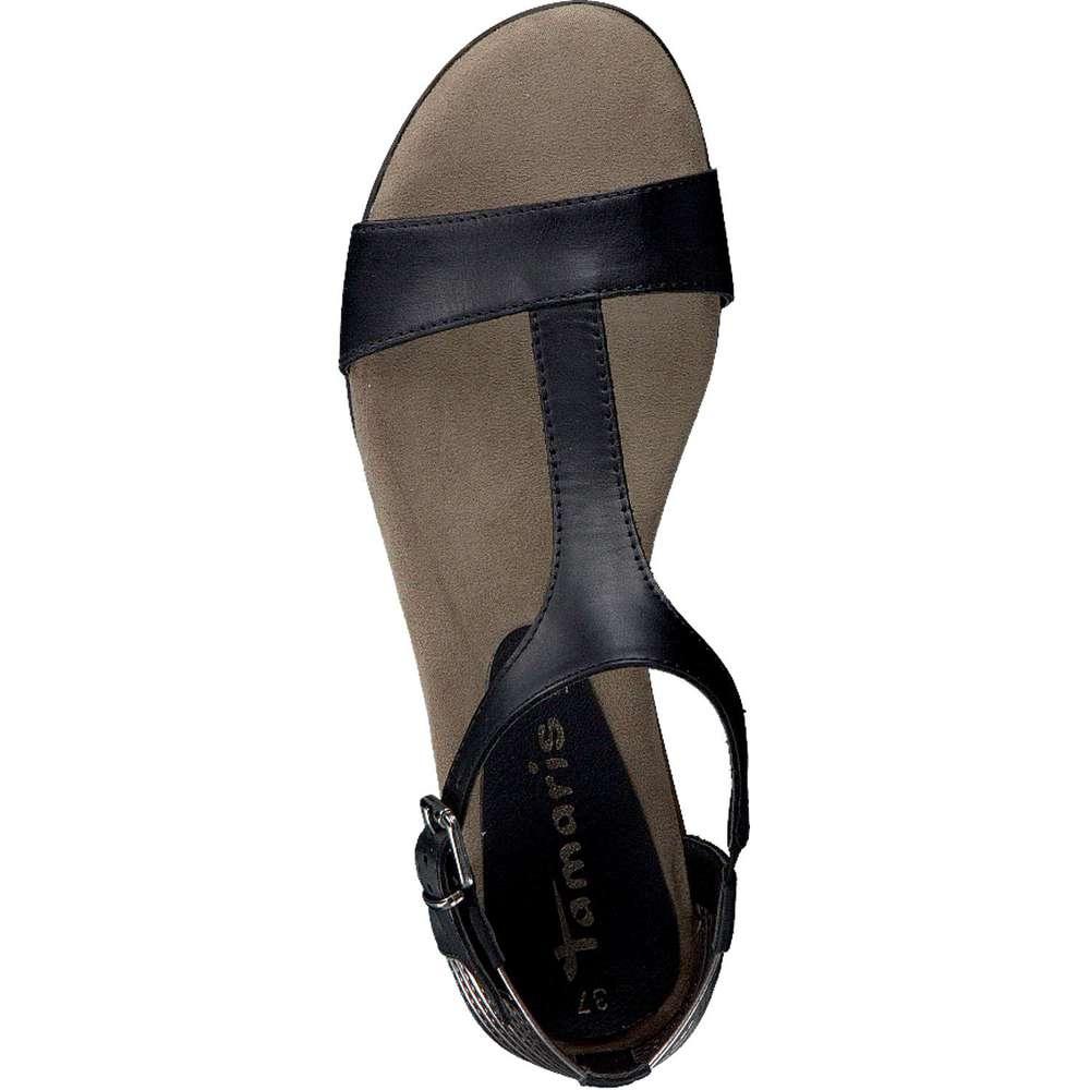 tamaris sandale in schwarz. Black Bedroom Furniture Sets. Home Design Ideas