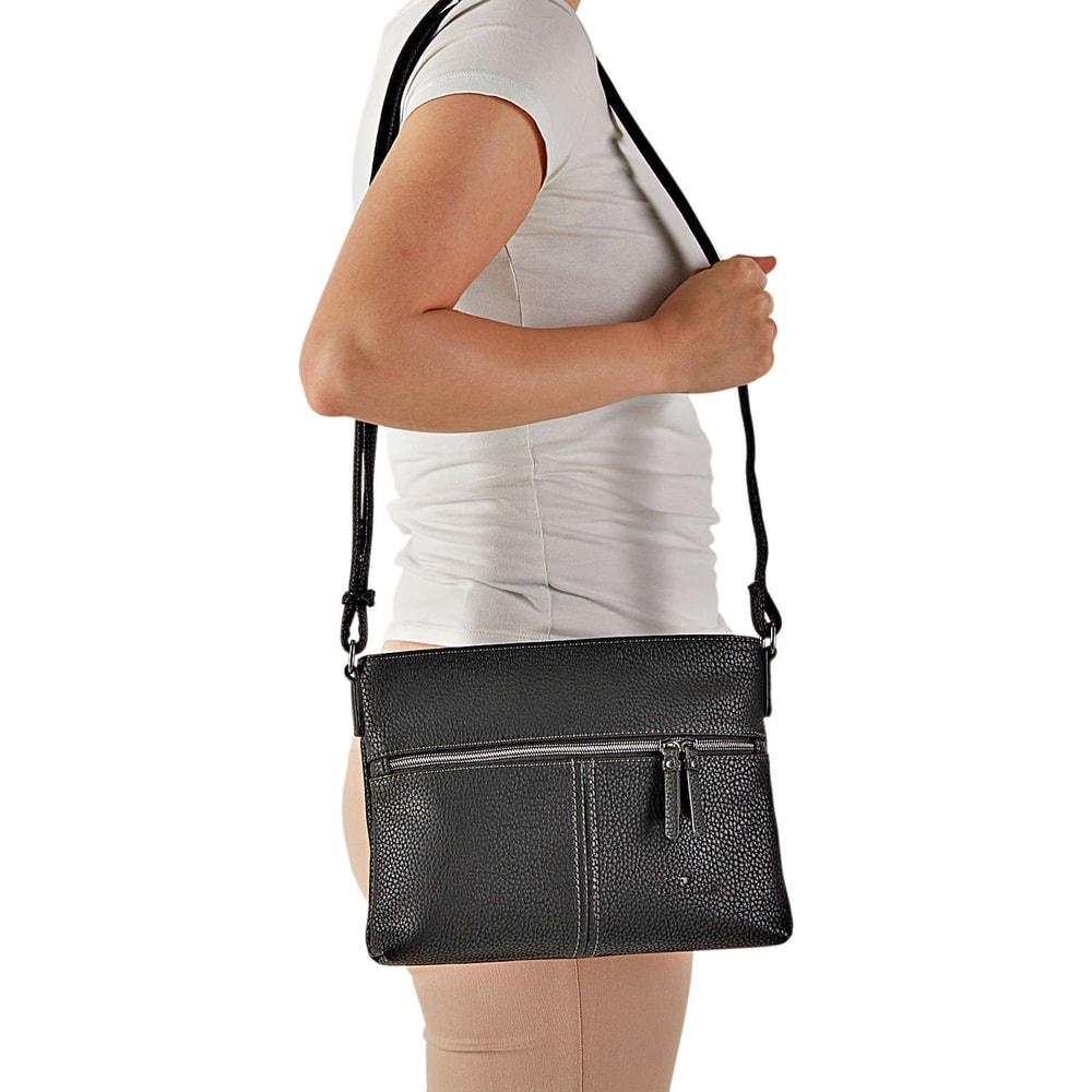 tom tailor damen aline schultertasche in schwarz reduziert bei. Black Bedroom Furniture Sets. Home Design Ideas