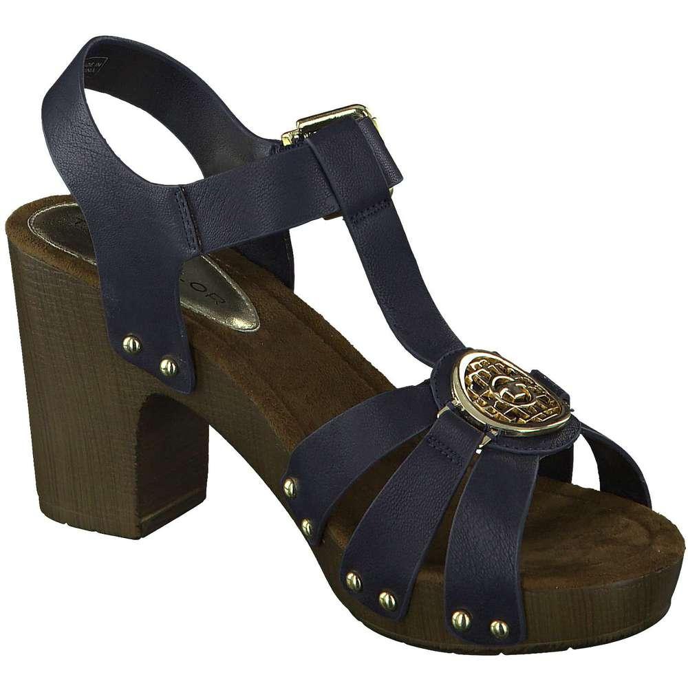 tom tailor sandale blau reduziert bei. Black Bedroom Furniture Sets. Home Design Ideas