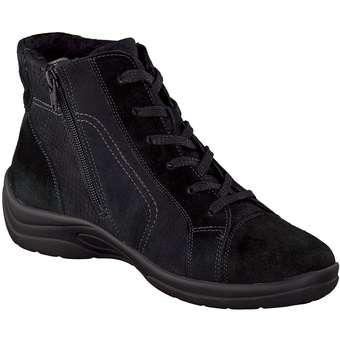 Leone Comfort - Schnür Boots - schwarz