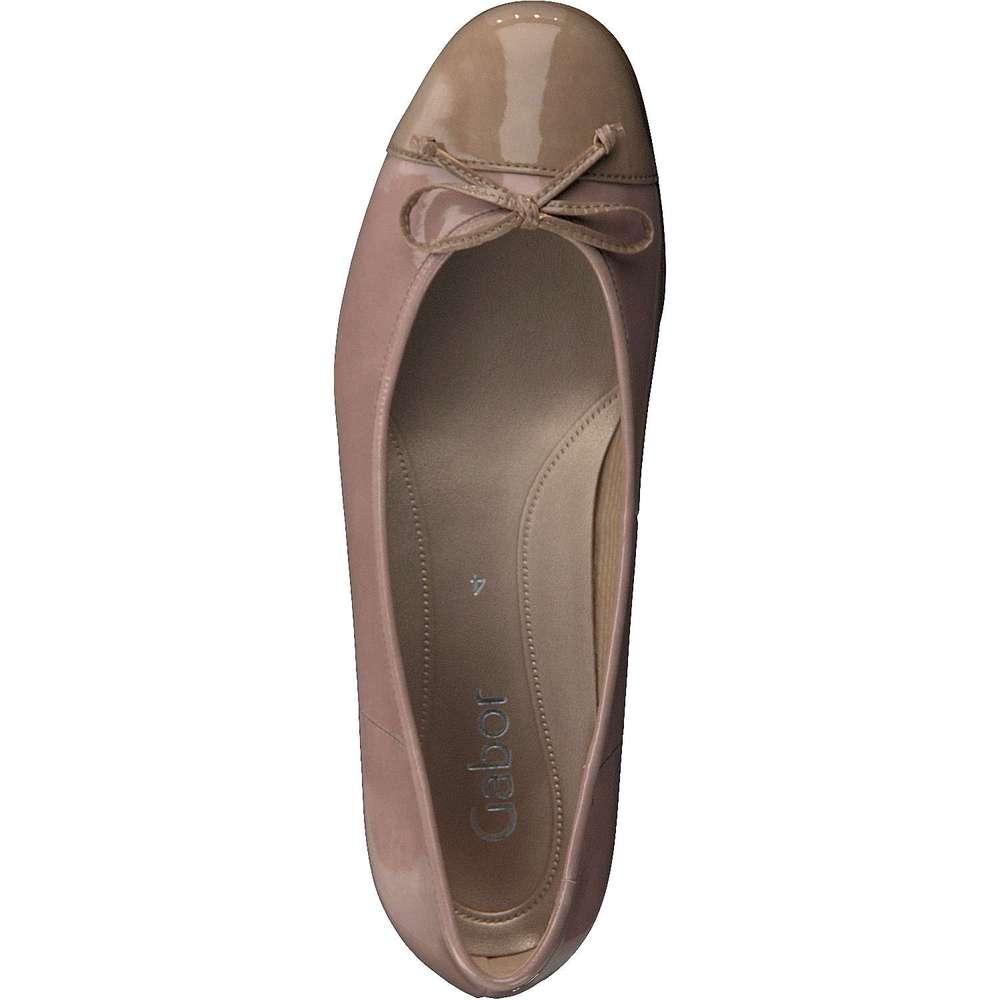 gabor damen ballerina in rosa reduziert bei. Black Bedroom Furniture Sets. Home Design Ideas