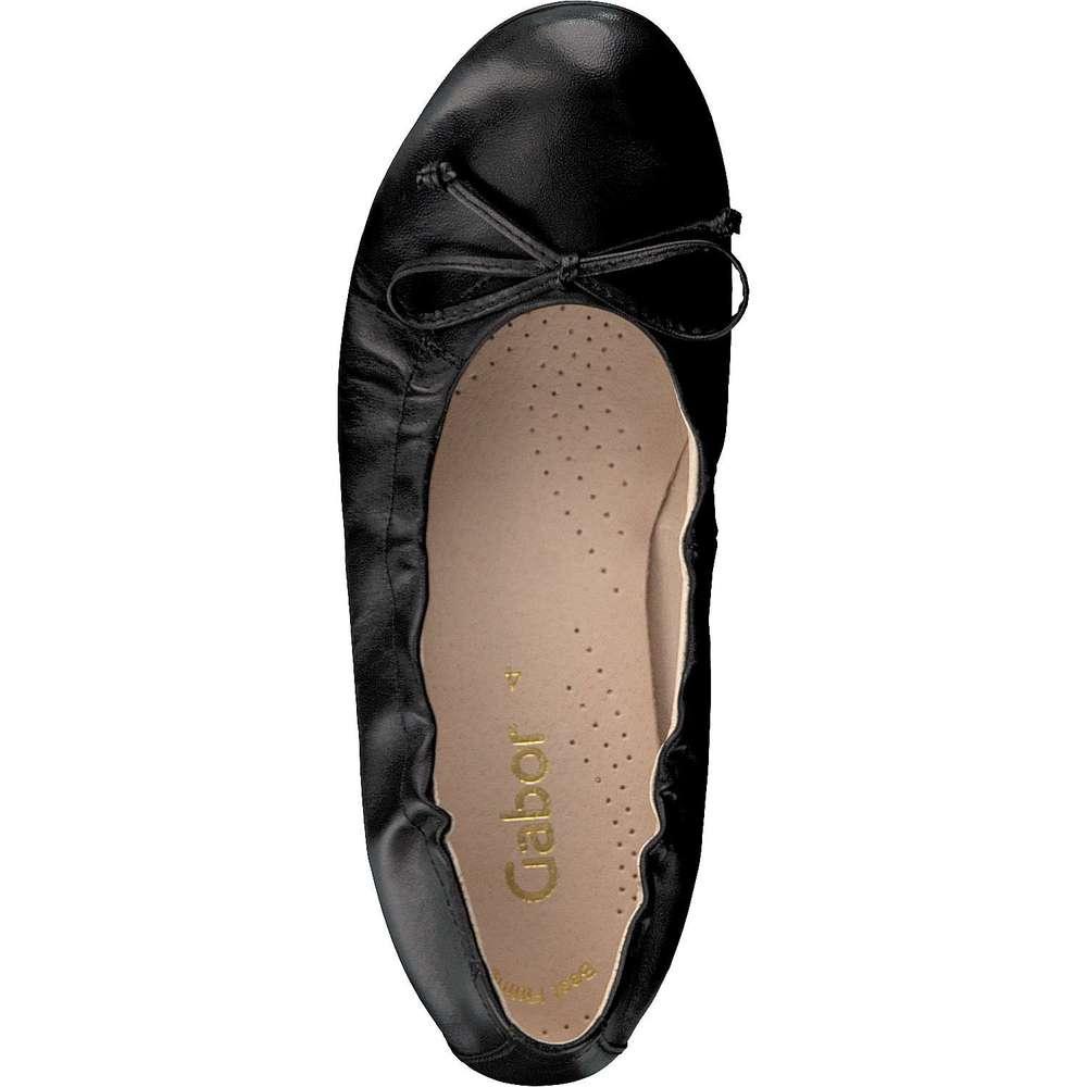 elegante gabor damen ballerina schwarz. Black Bedroom Furniture Sets. Home Design Ideas