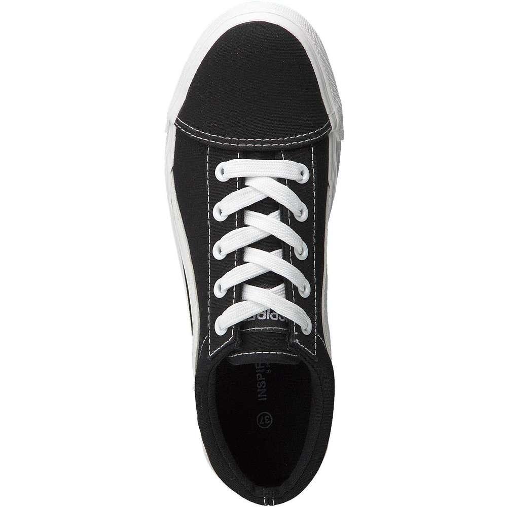 Inspired Shoes Leinen Schnürer schwarz