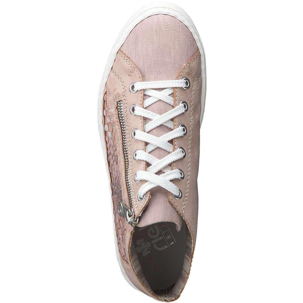 damen sneaker Rieker Sneaker High rosa Synthetik