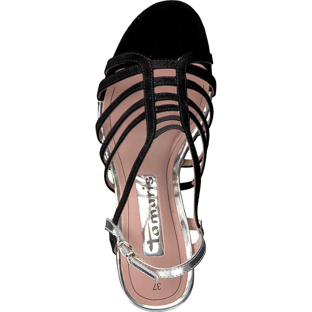 tamaris damen sandale in schwarz reduziert bei. Black Bedroom Furniture Sets. Home Design Ideas