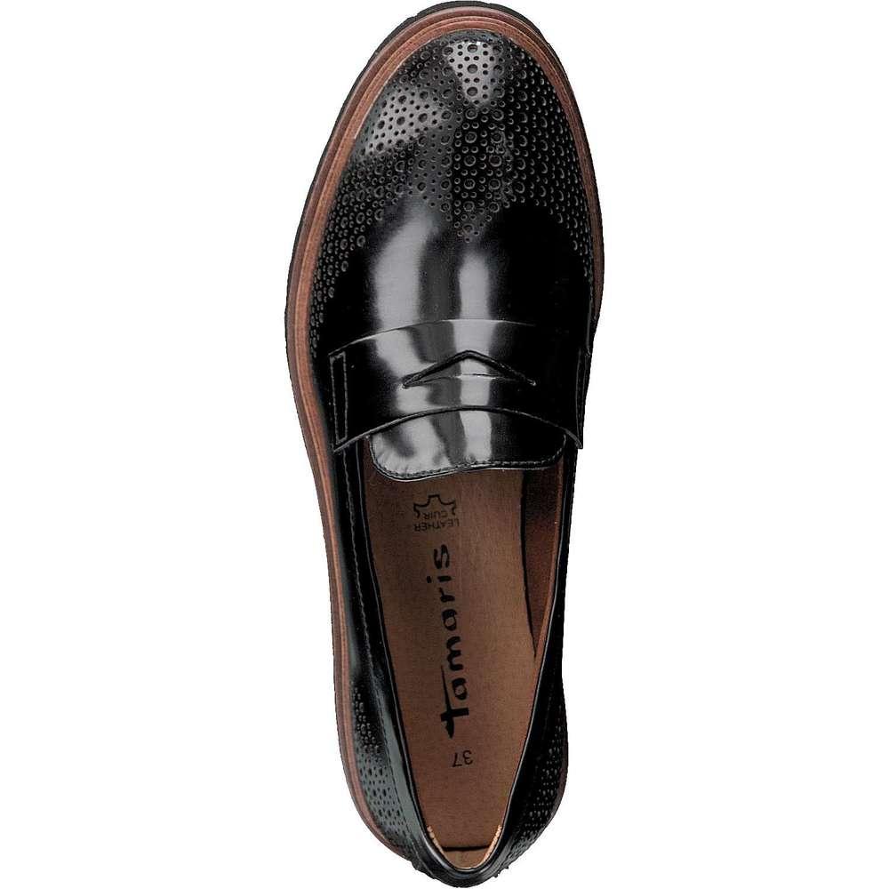 tamaris damen slipper schwarz